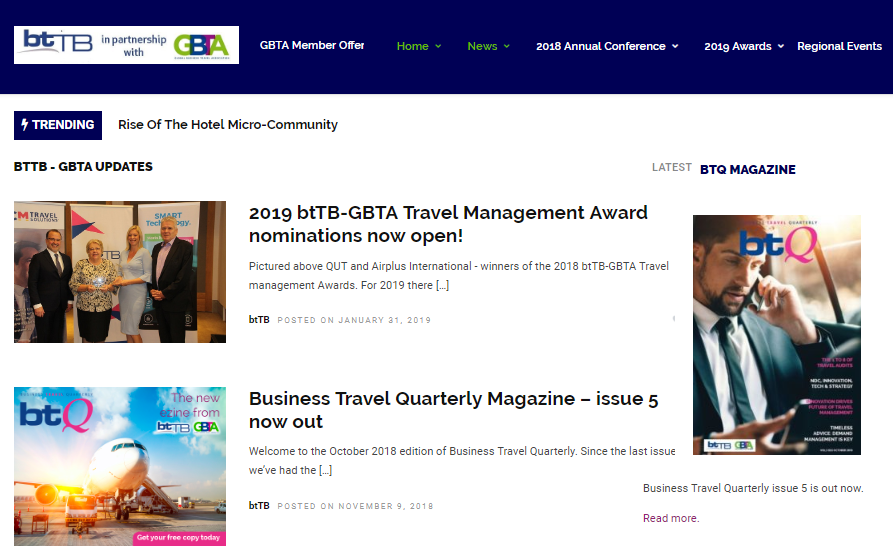 Click to go to the regional btTB GBTA website
