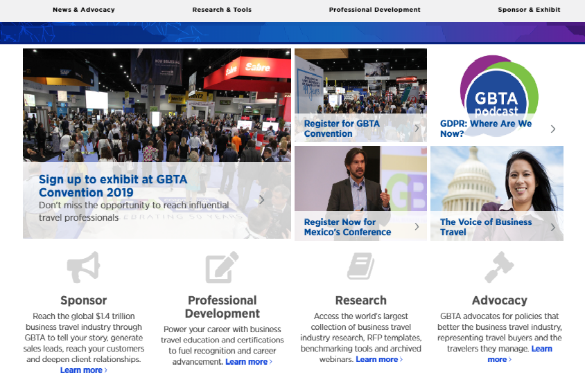 Click to go to the GBTA global website
