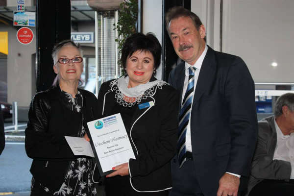 Best Retail Business 2016 - Unichem Main Street Pharmacy Howick are proud to have been judged Best Retail Busines in the Howick Village Business Awards 2016.