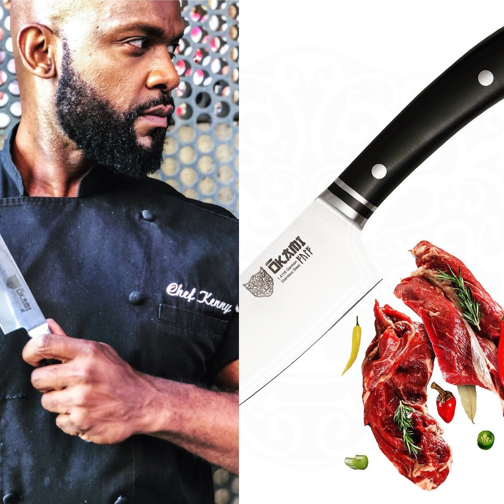 Chef Kenny Okami Knives.JPG