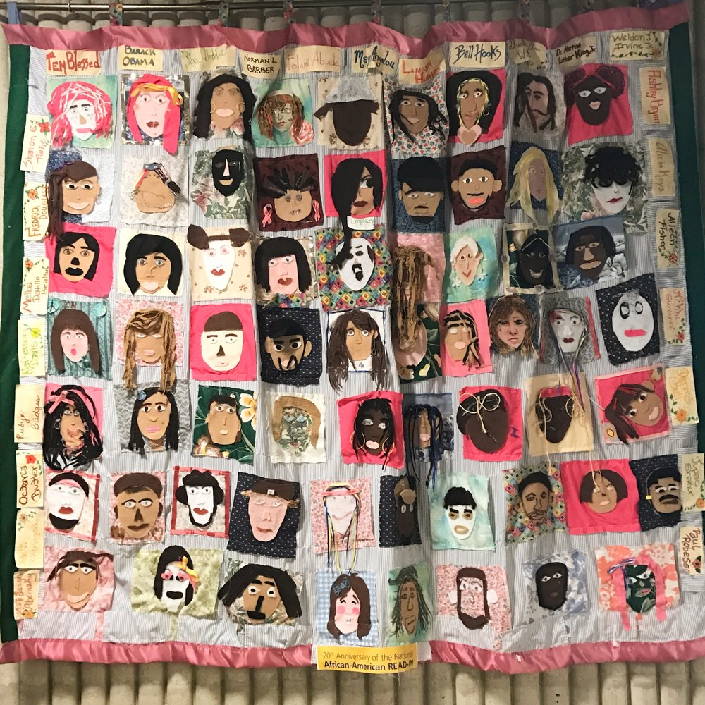 An amazing quilt in the Leduc Center for Civic Engagement.