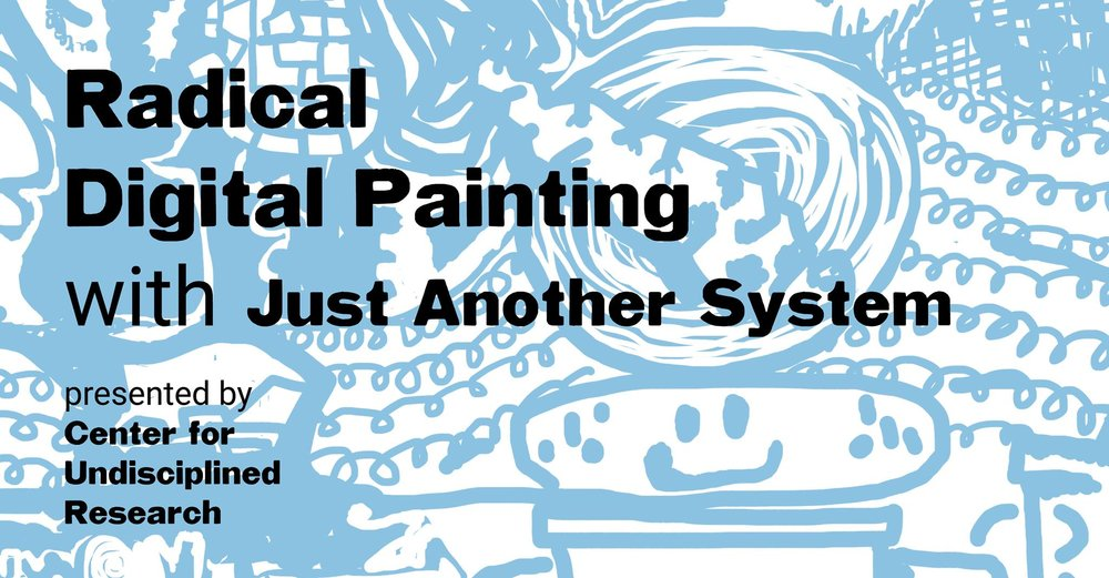 NEXT TUESDAY! The Center for Undisciplined Research presents a free lecture with Just Another System! Free snacks! Just Another System is a visual band and picture making team that performs live with a homegrown suite of creative software instruments. They're visiting us from Los Angeles, CA. Instagram: @justanothersystem In their end of 2017 lecture series on Radical Digital Painting they'll be demonstrating their custom software tools, teaching collaborative games, and showing digital paintings. They'll also be sharing their thoughts and theories on contemporary picture making. Studio visits on Weds. Nov. 8! To sign-up for a studio visit with their team, email Roz Crews at rcrews@umassd.edu. When? Tuesday November 7th, 7PM (studio visits on November 8th) Where? Lecture Hall 144 in the Star Store at UMass Dartmouth, 715 Purchase St., New Bedford, MA 02740 How much? Free!!! Thank you to CVPA of UMass Dartmouth!