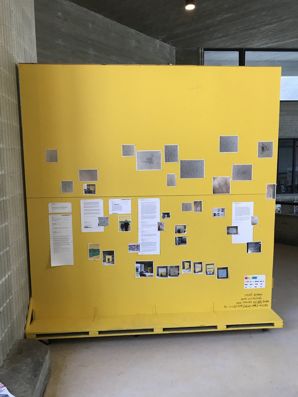 We've finally compiled the exhibition about some of the history of this cork board! It's on display now through next semester, and in January we will complete it with a little zine with the information!