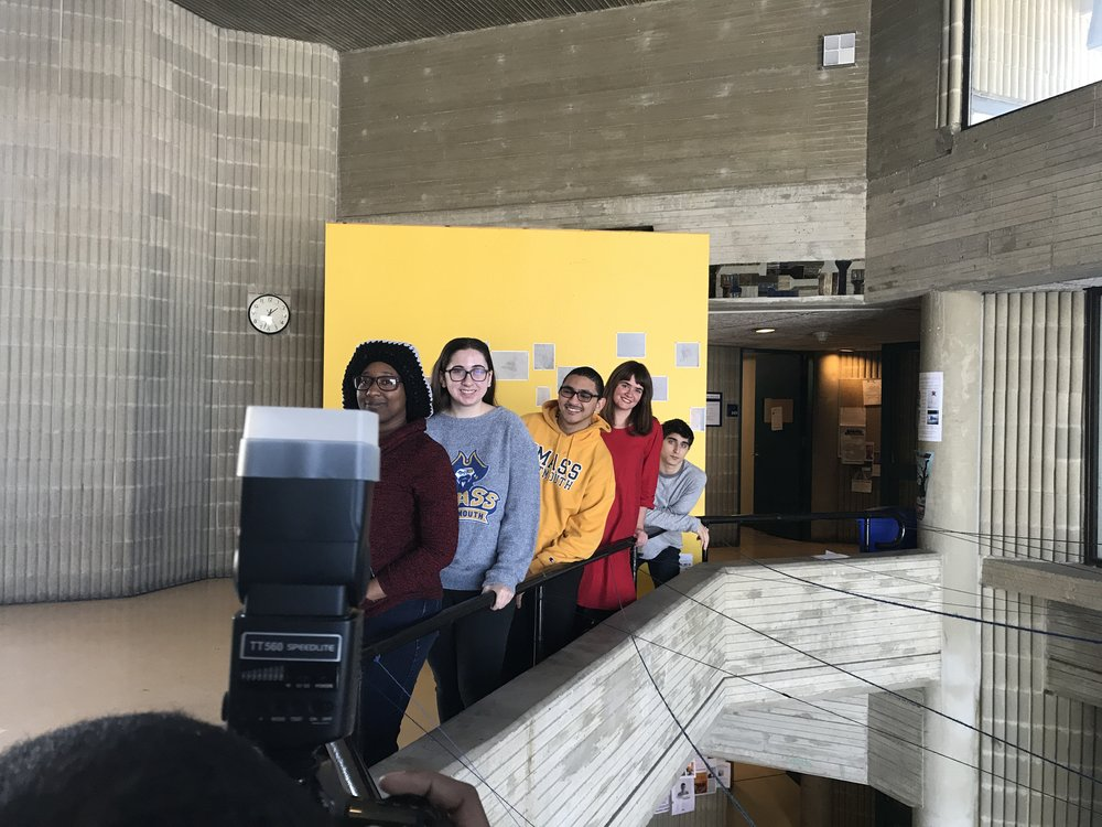 The UMass Dartmouth Alumni Magazine is writing an article about CURE, so last week a few of us posed for an environmental photo shoot to go along with the article!