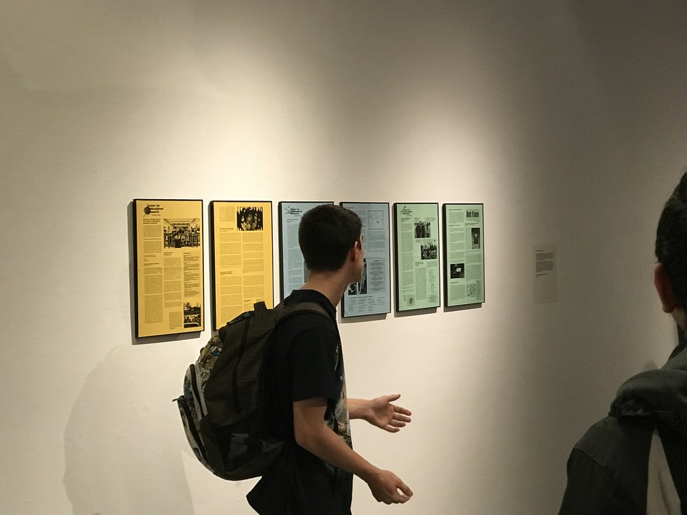 "We presented our first three newsletters as part of ""Take Two"" an exhibition about collaboration at CVPA. Here's Ben Urdi explaining the project during the artist talk portion of the evening."