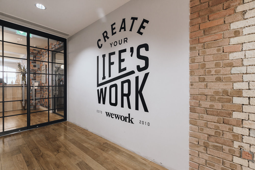 Branded Basic  - Want to step things up? The next tier, Branded Basic, adds branded content to an already interactive experience. WeWork can display its logo and choose effects best suited to its venue.