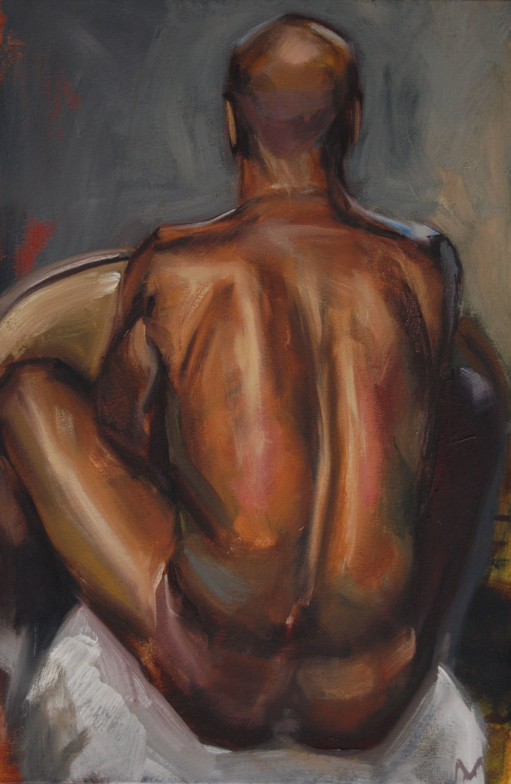 Jame's back 8x12inch oil on canvas.jpg