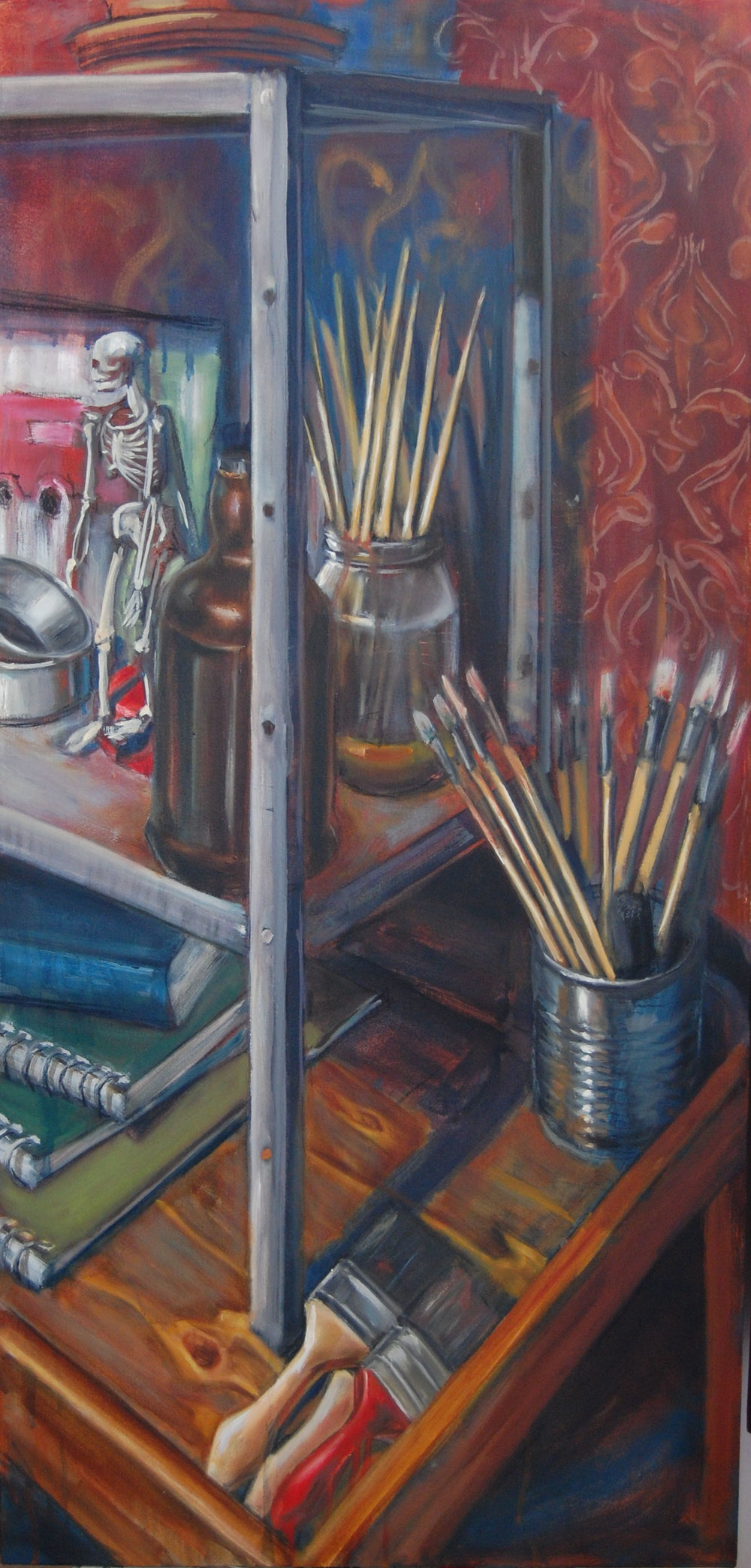 Still-life with brushes 22x46inch oil on canvas.jpg