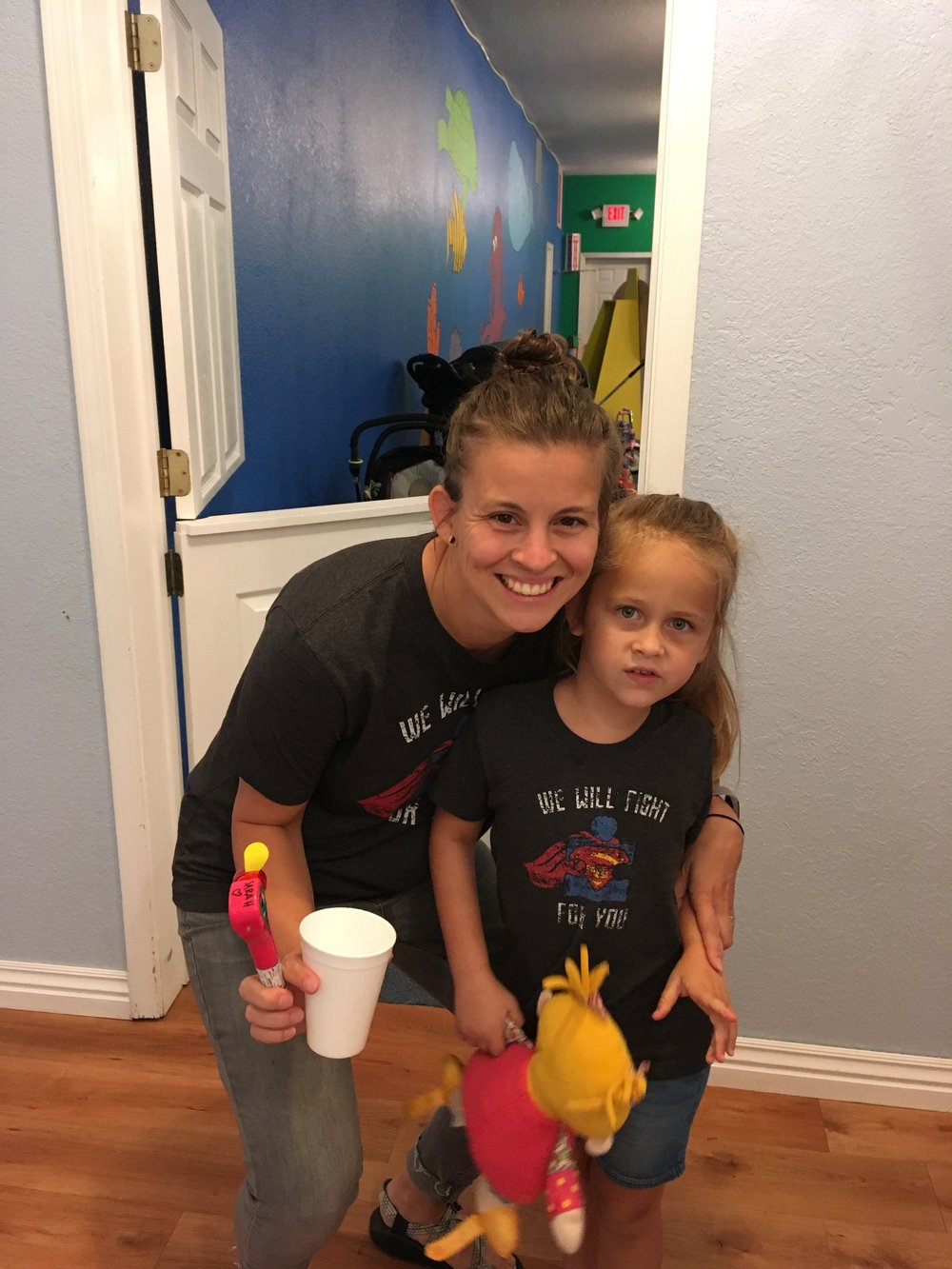 Leah working with on of her sweet therapy kiddos.