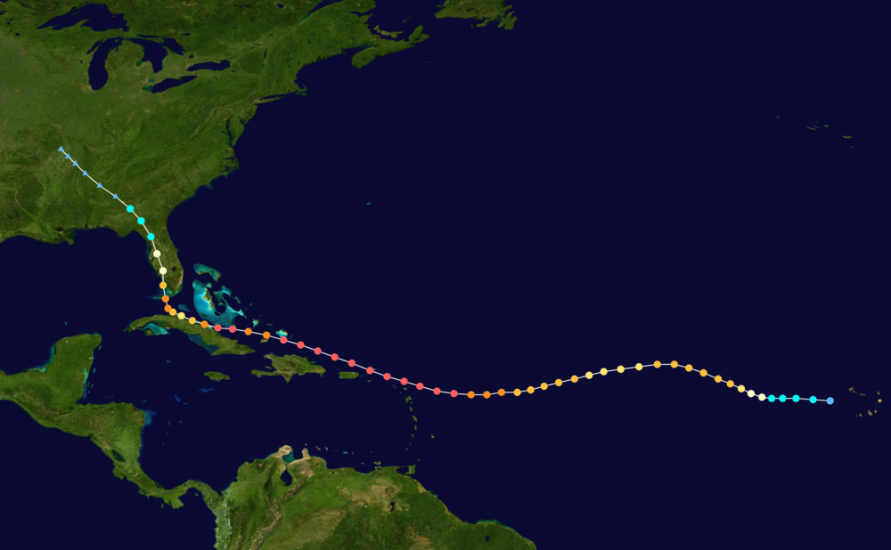 The track of Hurricane Irma. (OverloadQ)