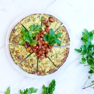 Zucchini and Herb frittata - G.Free and Veg