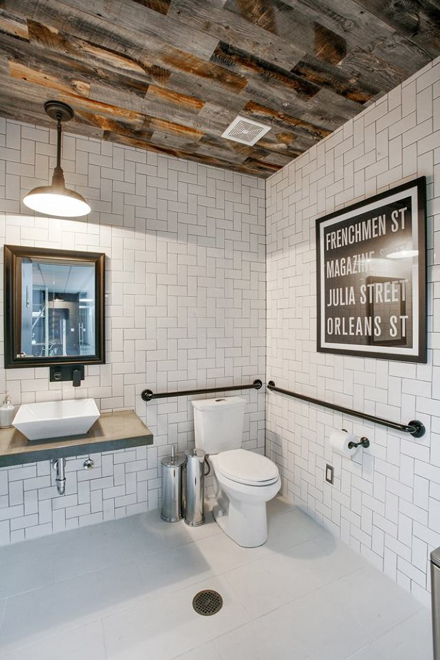 Acadian Flooring Design Center, subway tile