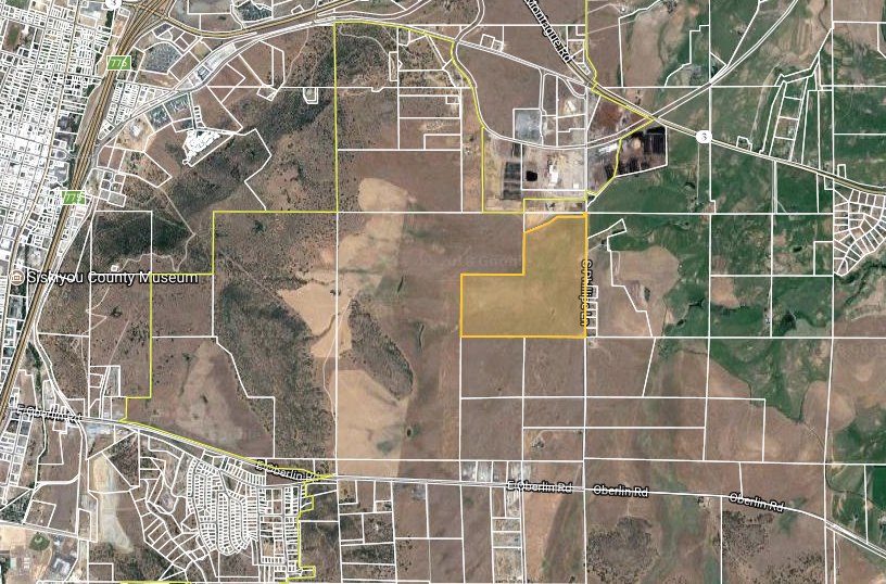 Yreka industrial Park - Yreka, CA- 120 Acres- Zoning: (M-2) Heavy IndustrialThe City of Yreka has invested heavily in the Yreka Industrial park over the last few years with the intention of attracting new businesses and developments. This strategy of providing road, electrical, water, and sewer infrastructure has succeeded, bringing in considerable new excitement, development, and capital investment to the site over the last few years.