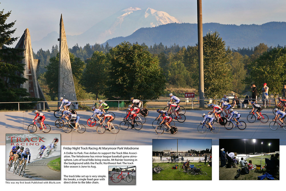 Page spread from Friday Nights Track Racing book.