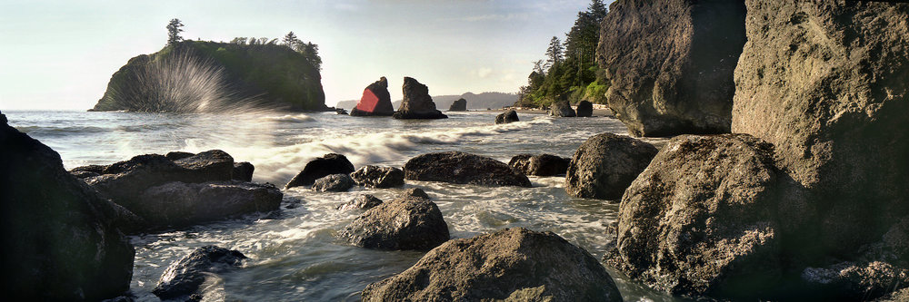 "Ruby Beach Wa.  6x17 film images scanned 24"" x72 "" print available"