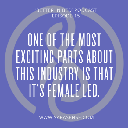 future sextech quote sarasense better in bed podcast