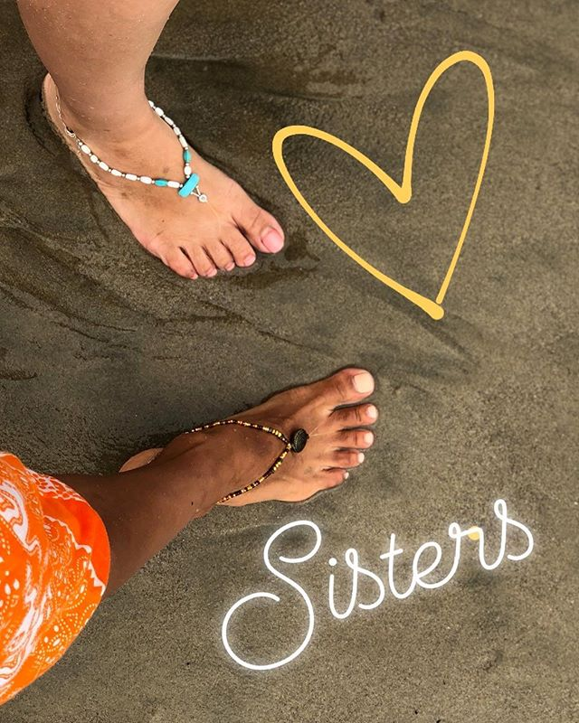 #Sister #Anklets 💕.#BFF #friendship #anklets #beachday #handmadejewelry #footjewelry