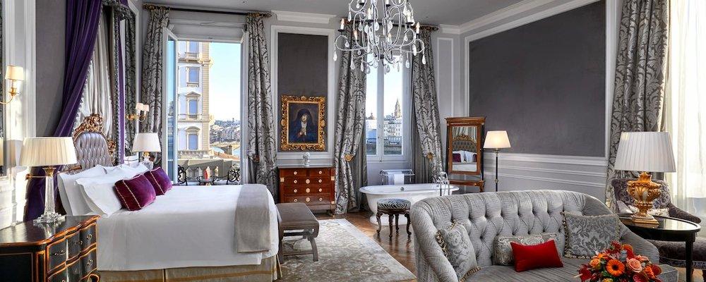 A Junior Suite at the St. Regis Firenze