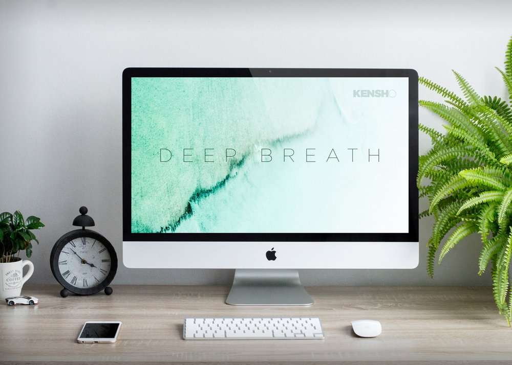 Deep Breath Large Desktop Wallpaper -