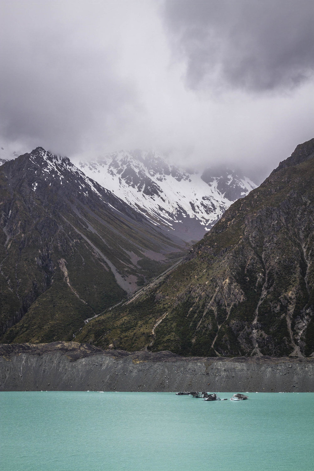 Tasman Glacier, New Zealand.  An unreal landscape.