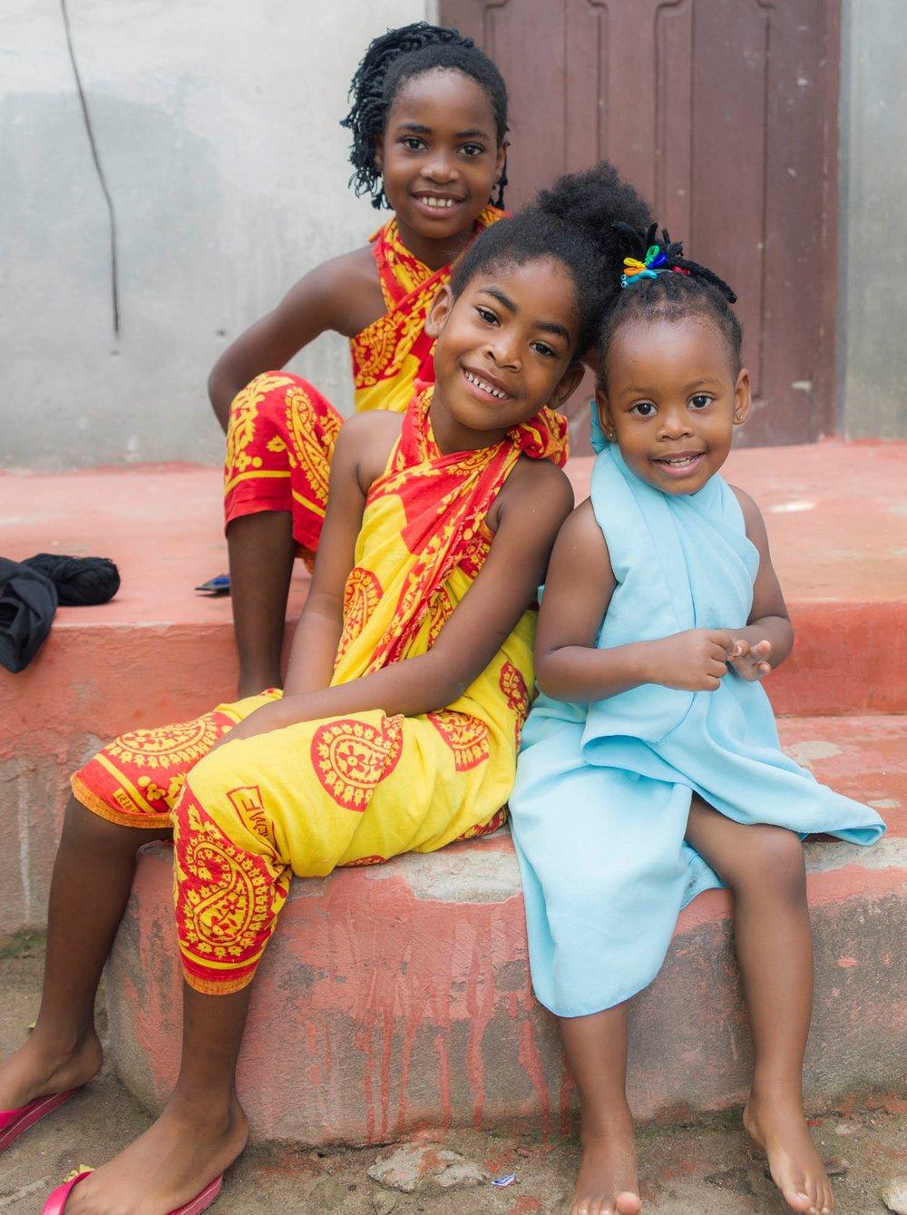 Paje. Zanzibar.  Super happy kids!