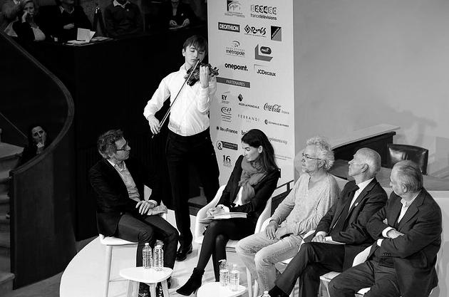 Gilles Finchelstein, Brieuc Vourch,Agnès Verdier-Molinié, Frédéric Lenoir, Thierry Saussez, Jacques Attali.