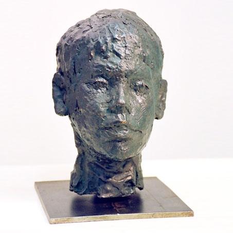 Julius Meinl, 1997, Bronze, Privatbesitz..Julius Meinl, 1997, bronze, privately owned
