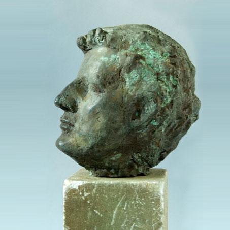 Franz Seilern, 1991, Bronze, Privatbesitz..Franz Seilern, 1991, bronze, privately owned