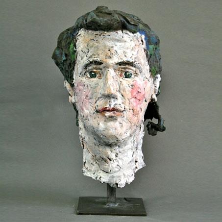 Constantin Spitzy, 2008, Bronze, Acryl bemalt, Privatbesitz..Constantin Spitzy, 2008, bronze, privately owned