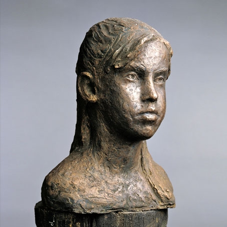 Portia Normanton, 1989, Bronze, Privatbesitz..Portia Normanton, 1989, bronze, privately owned