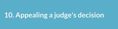 Appealing a judge's decision..