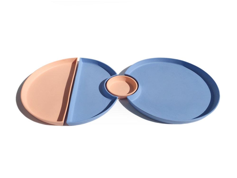 Orange & Blue Bento: