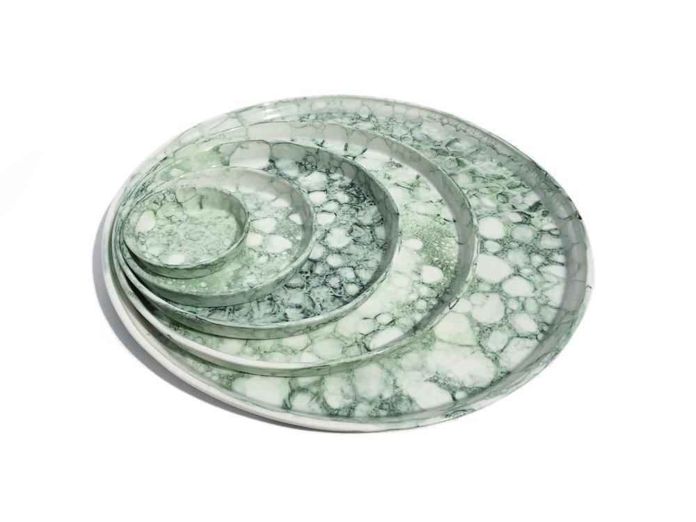 Green Bubble Plate