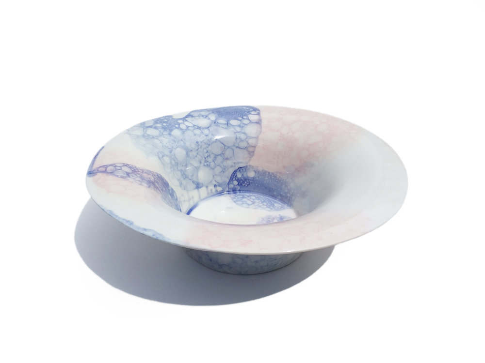 Blue & Pink Bubble Bowl
