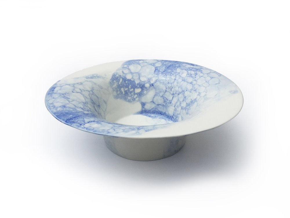 Blue & Blue Bubble Bowl