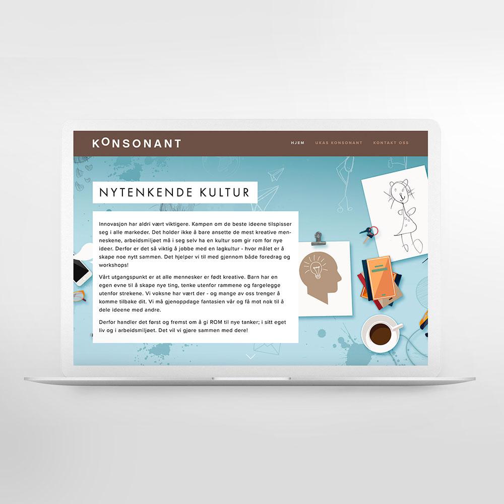 KONSONANT Logo, Grafisk design, Web