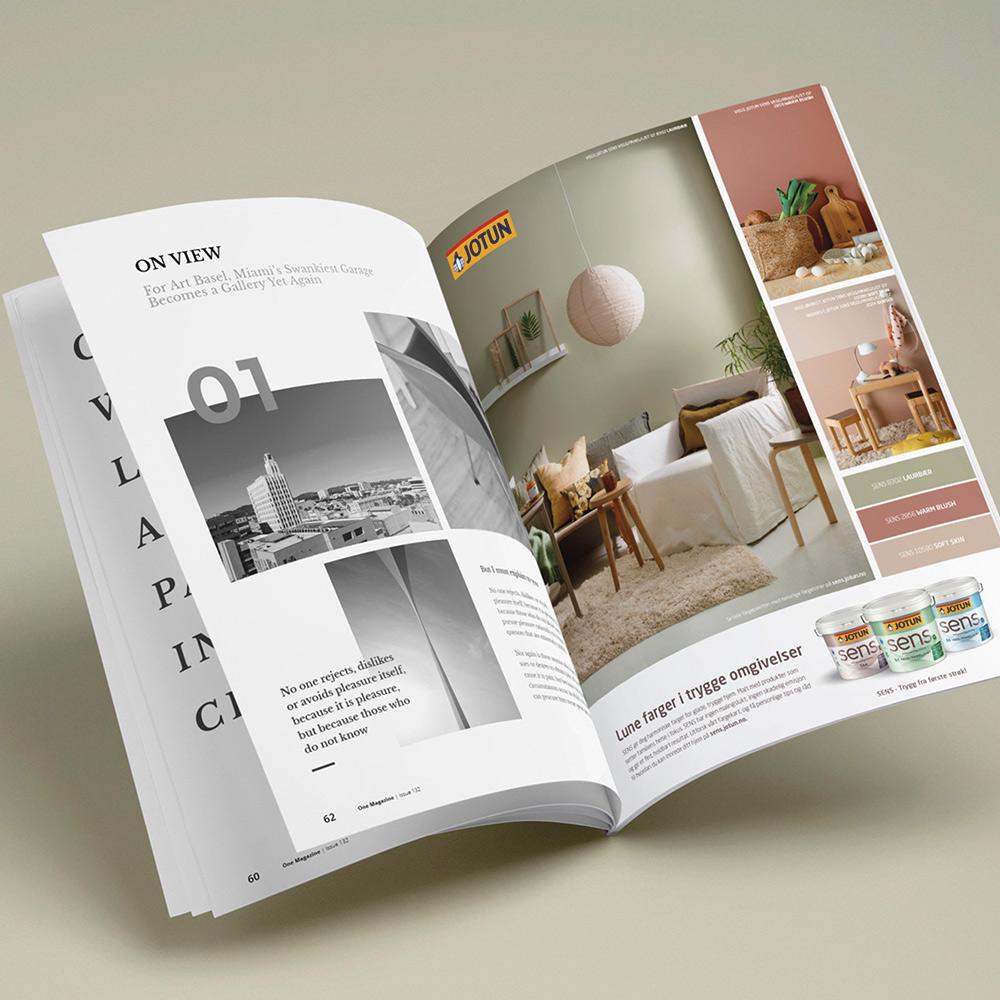 JOTUN Grafisk design, annonser