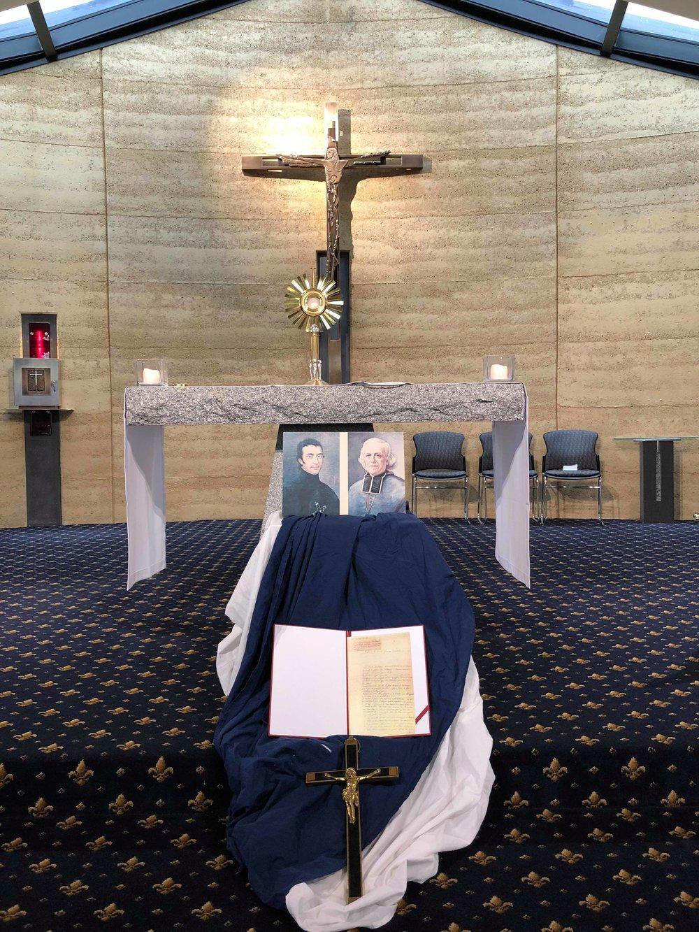 Chapel display at Mazenod College VIC