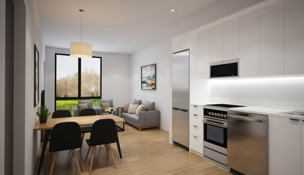 Floor Plans - With 24 different floor plans to choose from, and high ceilings and huge windows in every apartment, we've got a layout that suits you. Have fun browsing our floor plans and find the perfect studio, 1BR, or 2BR