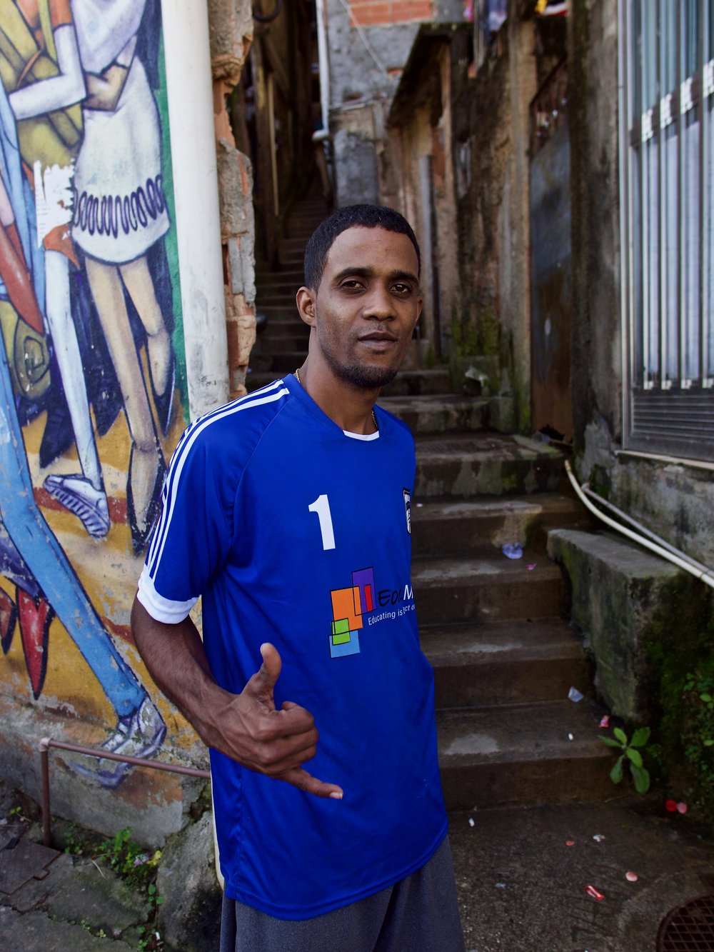 William Salles - Football Coach, Escolinha de FutebolTeaching children football in the Cantagalo Favela of Rio de Janeiro.Read his story here: