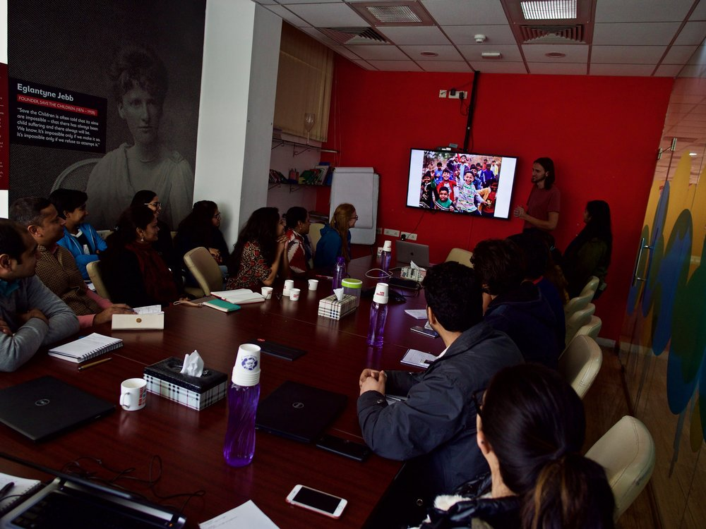 Photography Workshop, Save the Children State Office, New Delhi, India | Photo by David Löfman