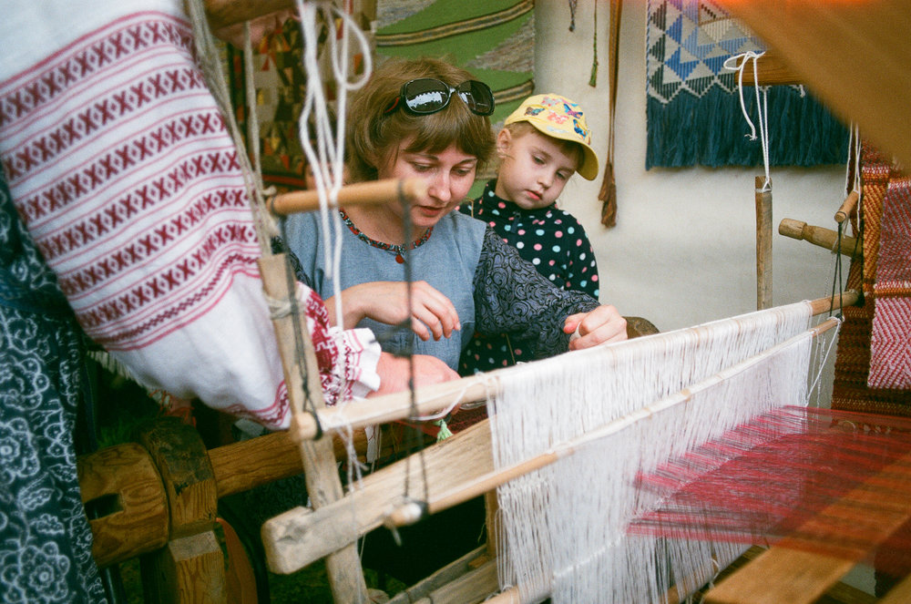 Weaving workshop by a regional art center, located 45 miles north from Kazakhstan border