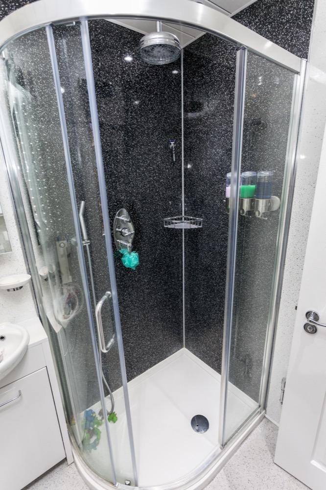 walk-in Shower, Family Bathroom. Emperor Bathrooms Limited.