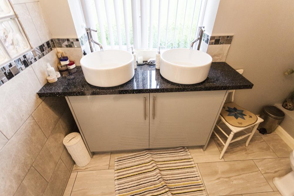 Double basin. Walk-in Bathroom. Emperor Bathrooms.