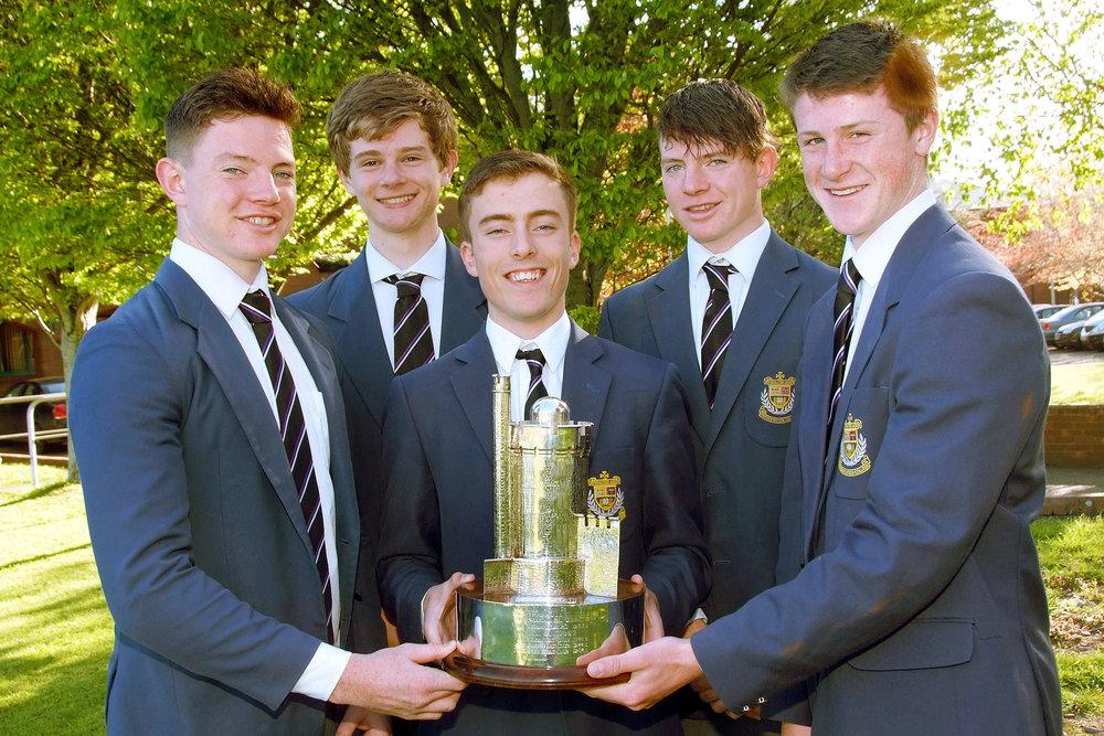 Members of the winning senior eight Cork Head 2015.JPG