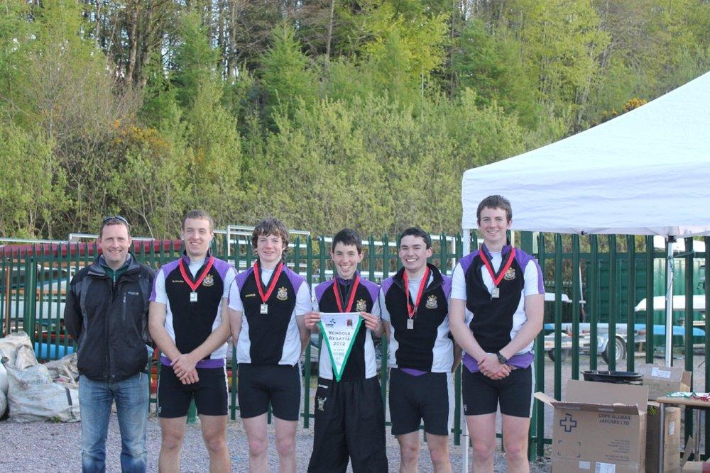 Senior Coxed Fours -  Schools Champions of Ireland 2012
