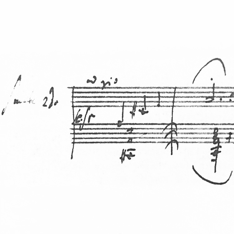 beethoven - sonata in d minor, Op. 31 No. 2 . facsimile of autograph