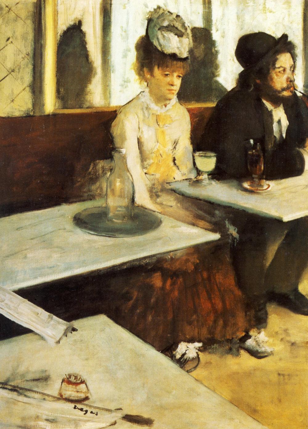Edgar Degas -Dans un café, L'absinthe (1873). image - courtesy of musée d'orsay, paris.
