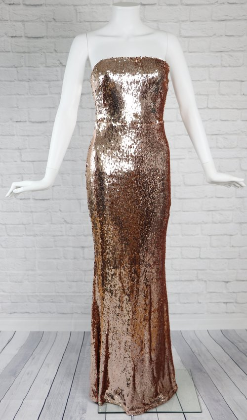 Rose Gold Sequin Gown — Gmk Boutique