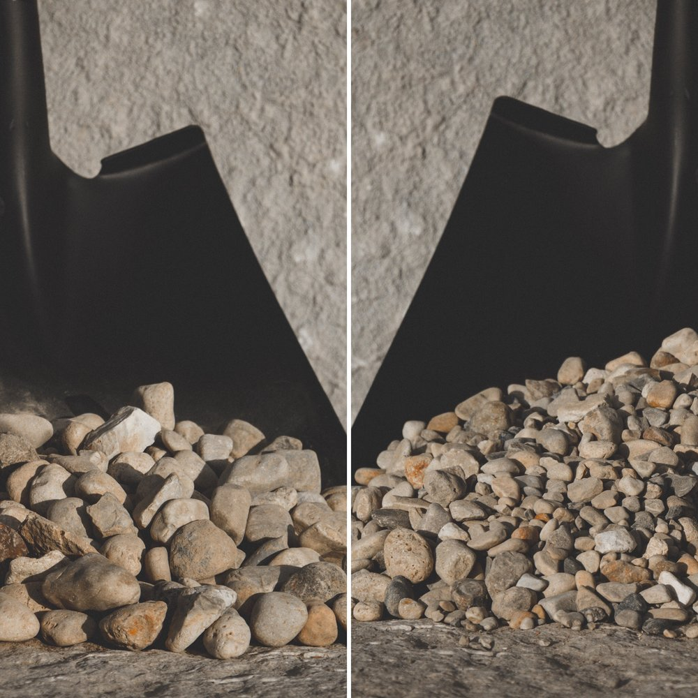 Washed Gravel - Primarily used in drainage applications. A general purpose gravel suitable for ponds, waterfalls, dog runs, decorative landscaping accents, and lining dry creek beds. Two sizes available: 1/2